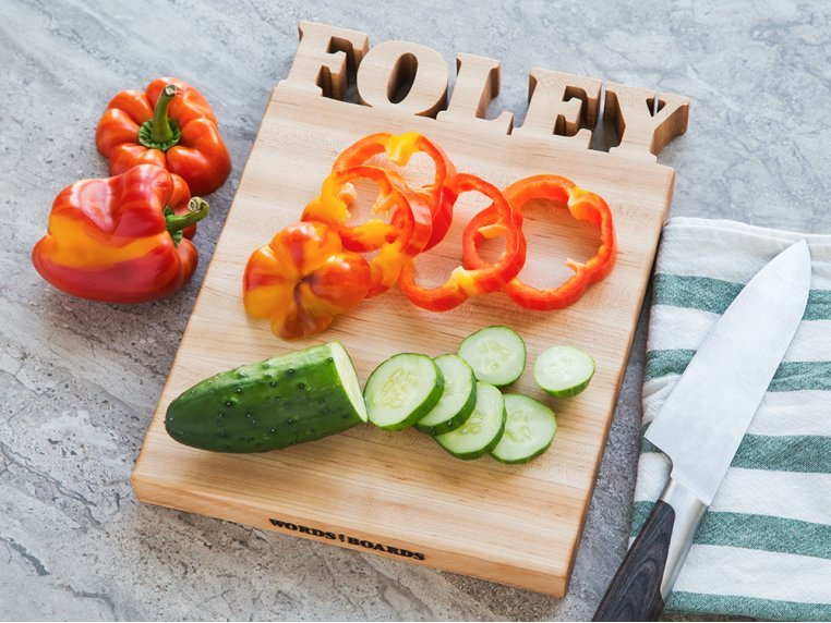 Small Vertical Personalized Cutting Board by Words with Boards - 1