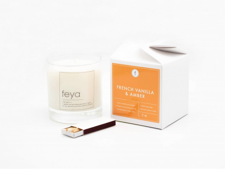 All-Natural Soy Wax Candle Set - 6.5 oz by The Feya Co. - 2