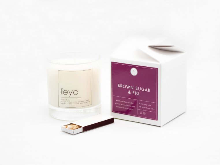 All-Natural Soy Wax Candle Set - 6.5 oz by The Feya Co. - 3