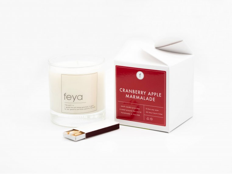 All-Natural Soy Wax Candle Set - 6.5 oz by The Feya Co. - 5