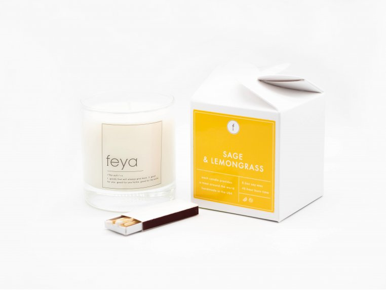 All-Natural Soy Wax Candle Set - 6.5 oz by The Feya Co. - 6