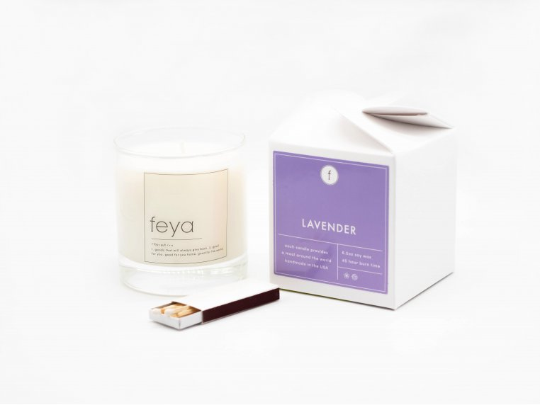 All-Natural Soy Wax Candle Set - 6.5 oz by The Feya Co. - 7