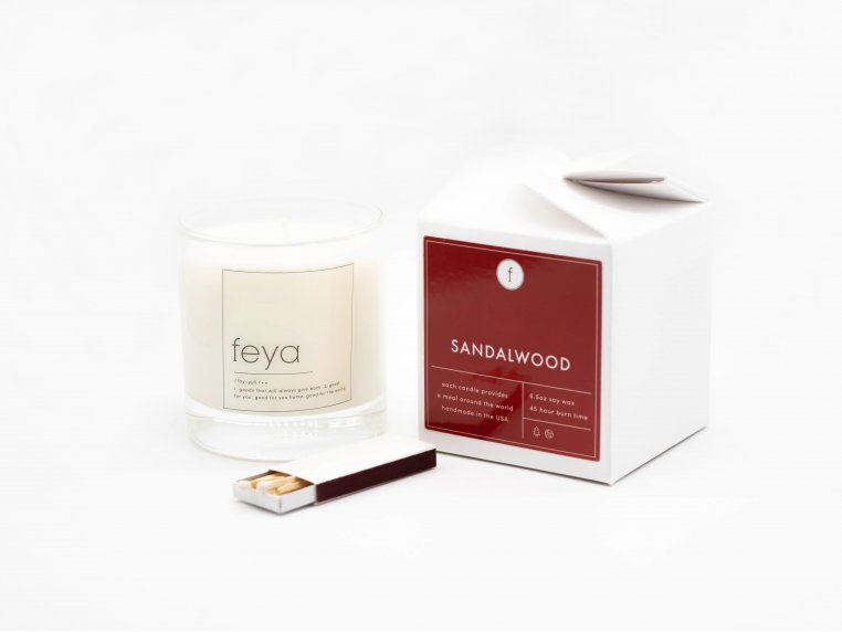 All-Natural Soy Wax Candle Set - 6.5 oz by The Feya Co. - 8