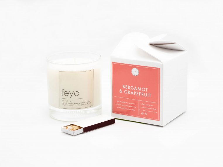 All-Natural Soy Wax Candle Set - 6.5 oz by The Feya Co. - 9