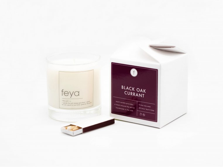 All-Natural Soy Wax Candle Set - 6.5 oz by The Feya Co. - 10