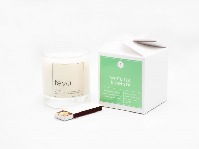 All-Natural Soy Wax Candle Set - 6.5 oz by The Feya Co. - 11
