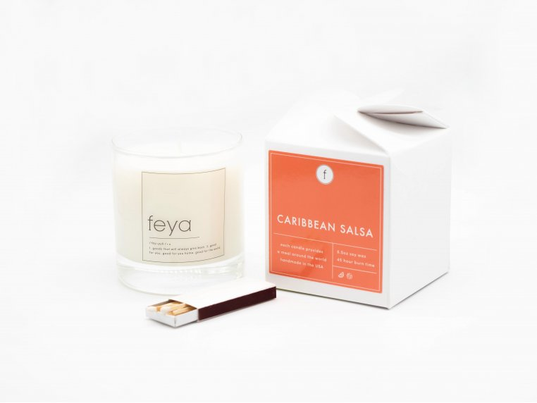 All-Natural Soy Wax Candle Set - 6.5 oz by The Feya Co. - 12