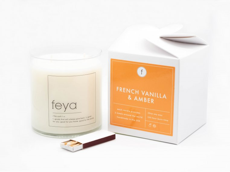 All-Natural Soy Wax Candle - 20 oz by The Feya Co. - 2