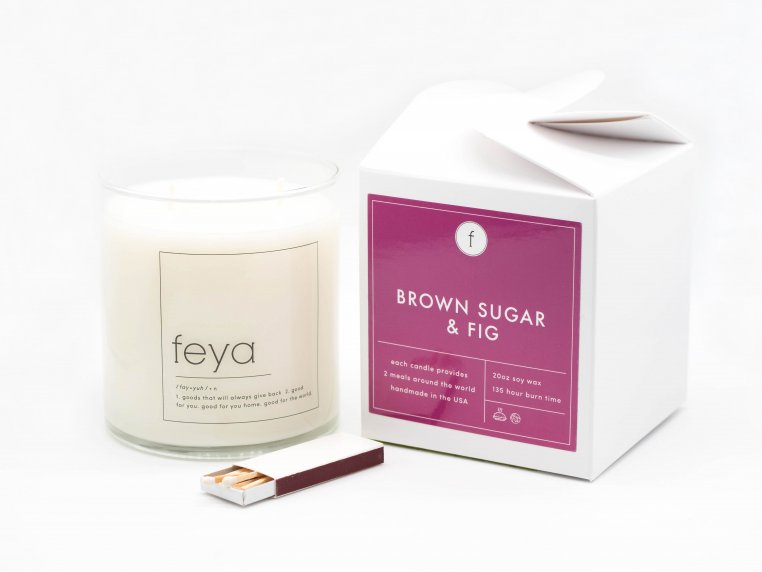 All-Natural Soy Wax Candle - 20 oz by The Feya Co. - 3