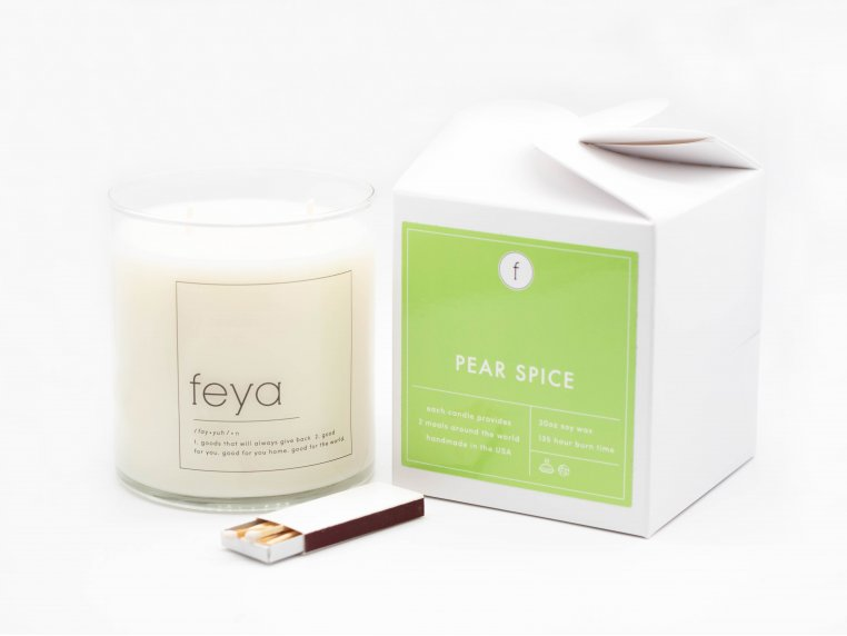 All-Natural Soy Wax Candle - 20 oz by The Feya Co. - 4