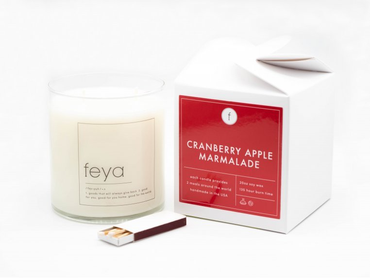 All-Natural Soy Wax Candle - 20 oz by The Feya Co. - 5