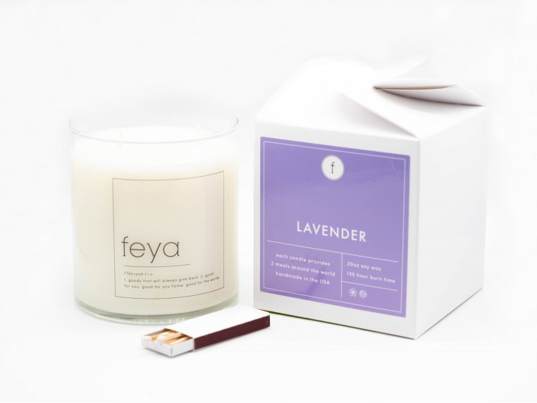 All-Natural Soy Wax Candle - 20 oz by The Feya Co. - 7