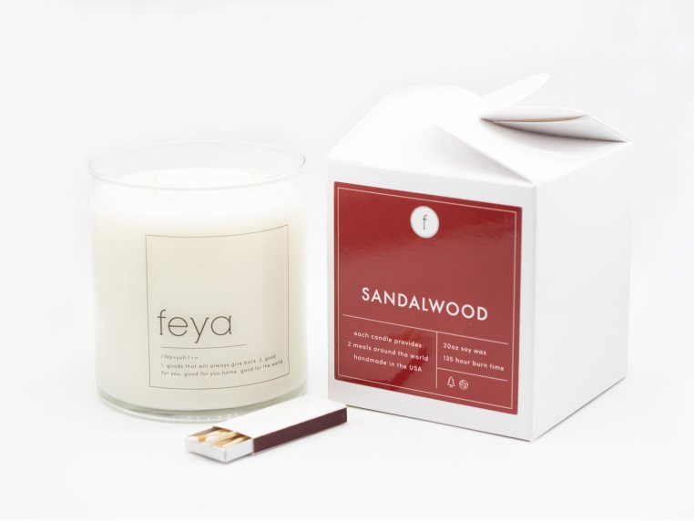 All-Natural Soy Wax Candle - 20 oz by The Feya Co. - 8