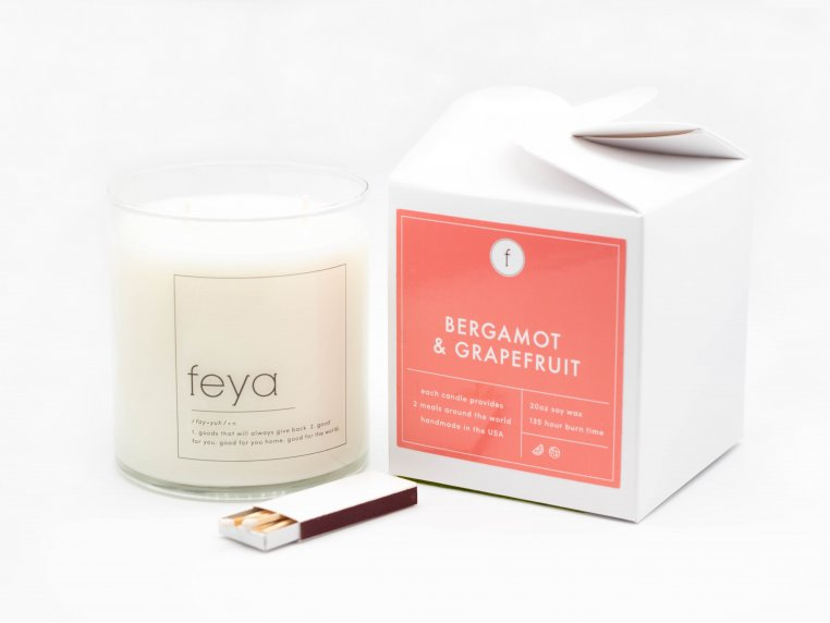 All-Natural Soy Wax Candle - 20 oz by The Feya Co. - 9
