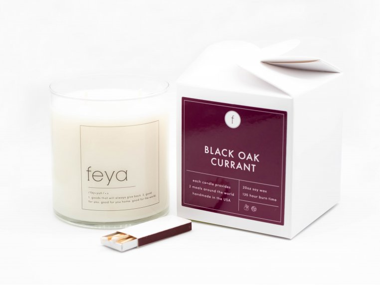 All-Natural Soy Wax Candle - 20 oz by The Feya Co. - 10