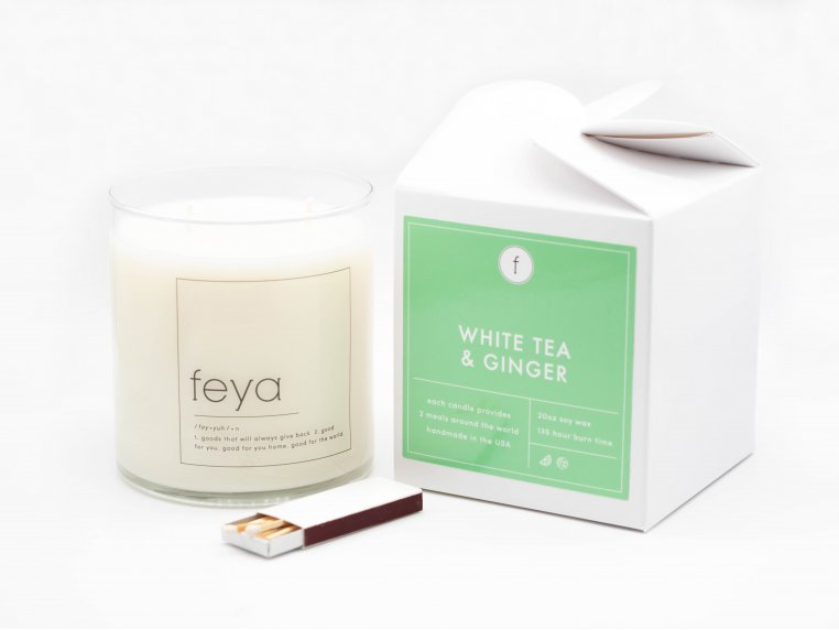 All-Natural Soy Wax Candle - 20 oz by The Feya Co. - 11