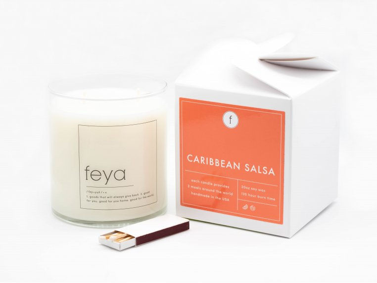 All-Natural Soy Wax Candle - 20 oz by The Feya Co. - 12
