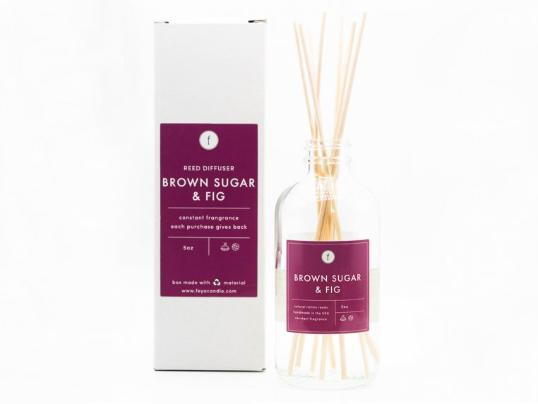 Scented Reed Diffuser - 2-Pack by The Feya Co. - 3