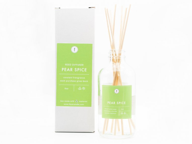 Scented Reed Diffuser - 2-Pack by The Feya Co. - 4