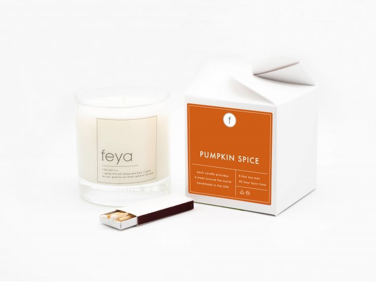 All-Natural Soy Wax Candle Set - 6.5 oz by The Feya Co. - 1