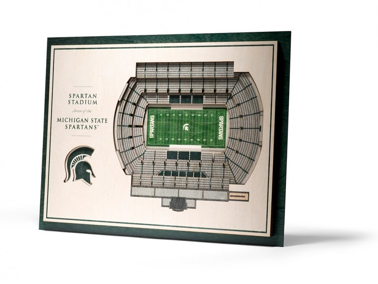 Wooden Five-Layer Stadium Wall Art by StadiumViews - 22