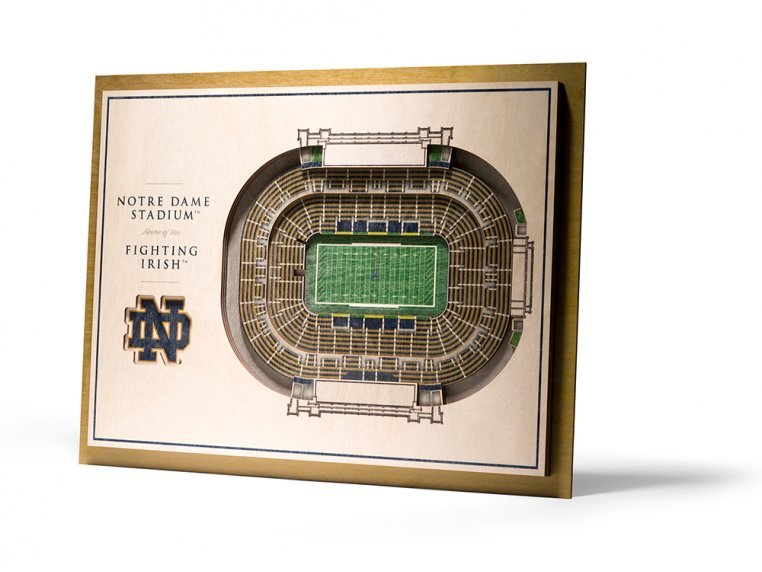 Wooden Five-Layer Stadium Wall Art by StadiumViews - 29