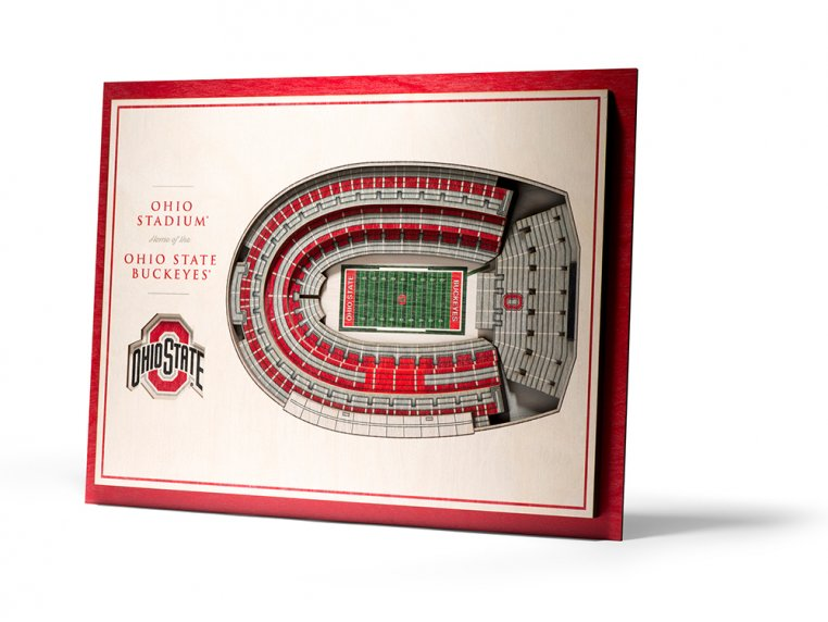 Wooden Five-Layer Stadium Wall Art by StadiumViews - 30