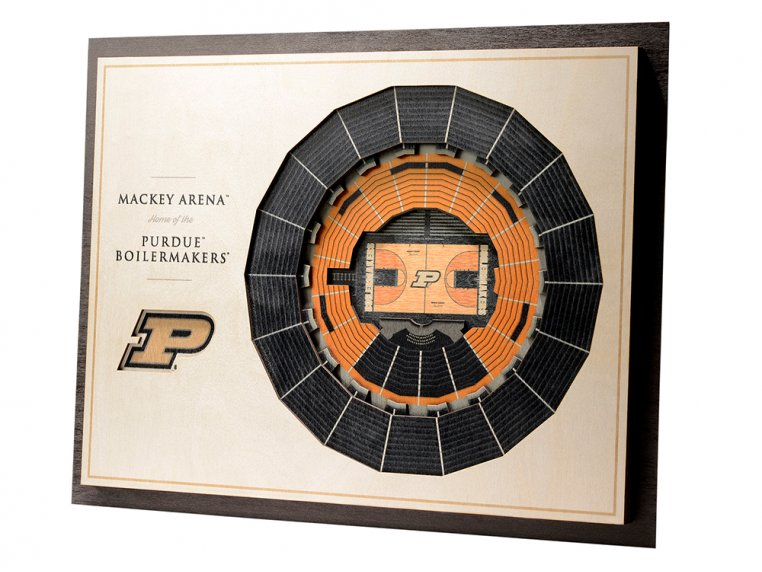 Wooden Five-Layer Stadium Wall Art by StadiumViews - 37