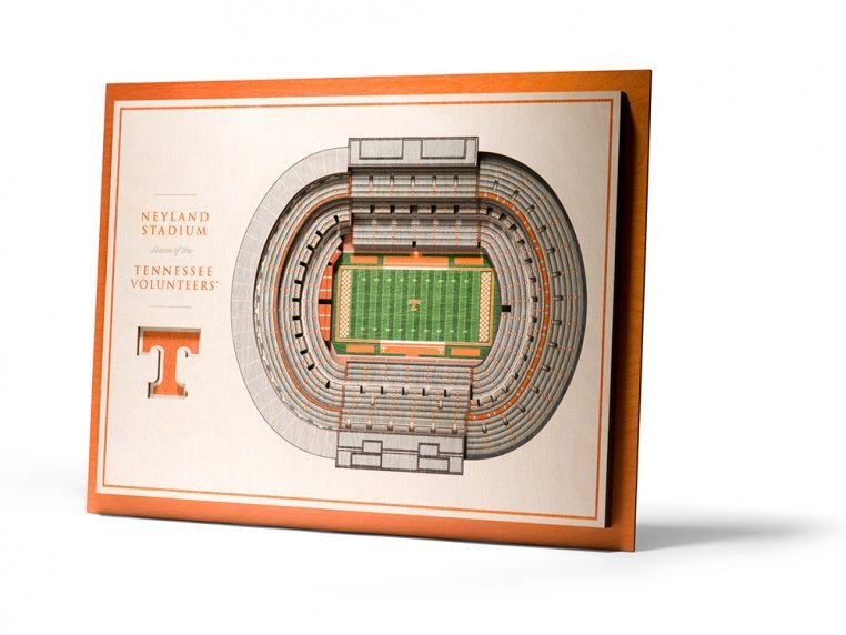 Wooden Five-Layer Stadium Wall Art by StadiumViews - 41
