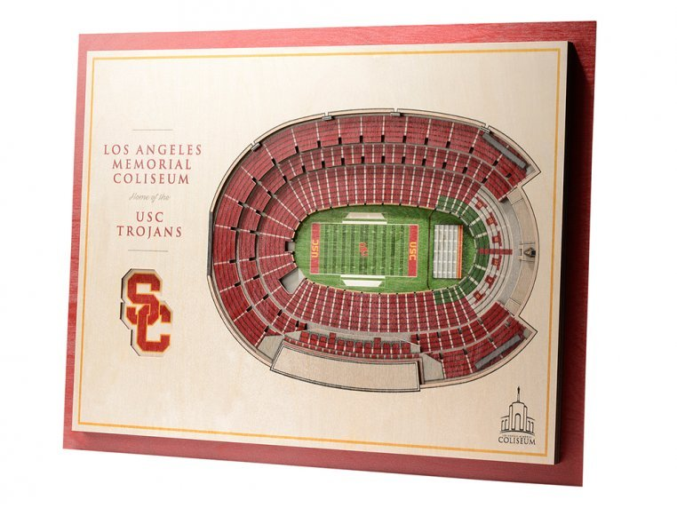 Wooden Five-Layer Stadium Wall Art by StadiumViews - 45