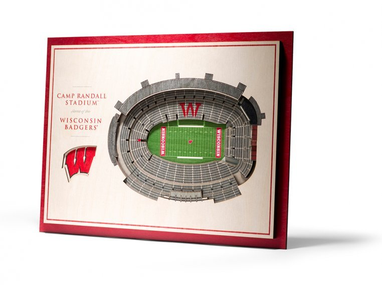 Wooden Five-Layer Stadium Wall Art by StadiumViews - 50
