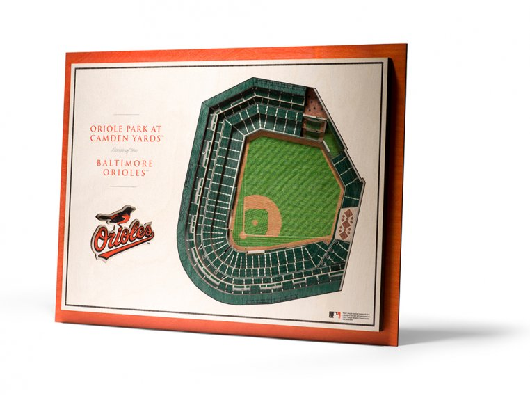 Wooden Five-Layer Stadium Wall Art by StadiumViews - 52