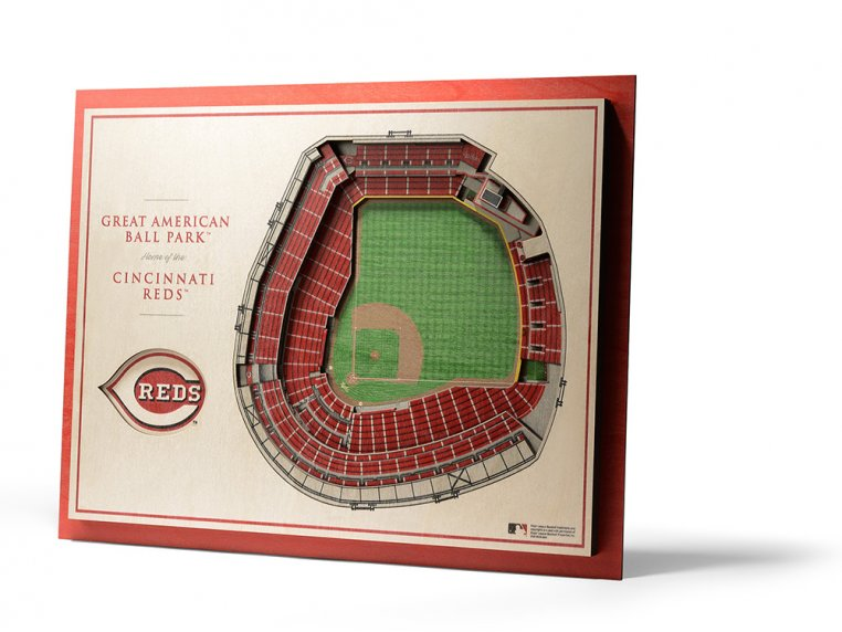 Wooden Five-Layer Stadium Wall Art by StadiumViews - 57