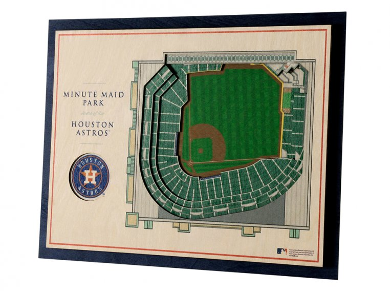 Wooden Five-Layer Stadium Wall Art by StadiumViews - 61