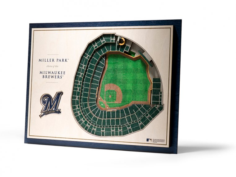 Wooden Five-Layer Stadium Wall Art by StadiumViews - 59