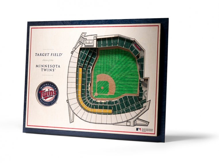 Wooden Five-Layer Stadium Wall Art by StadiumViews - 64