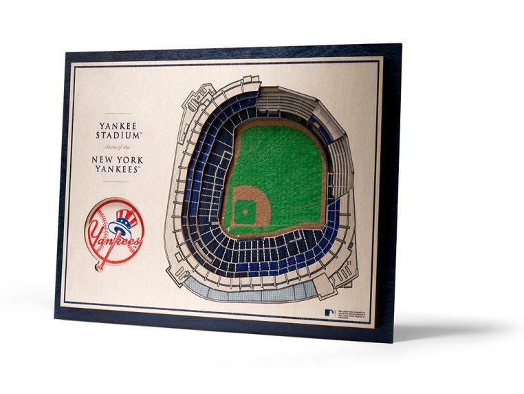 Wooden Five-Layer Stadium Wall Art by StadiumViews - 66