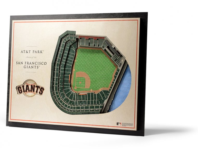 Wooden Five-Layer Stadium Wall Art by StadiumViews - 68