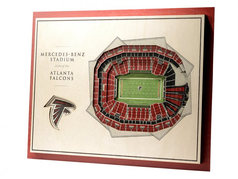 Wooden Five-Layer Stadium Wall Art by StadiumViews - 73