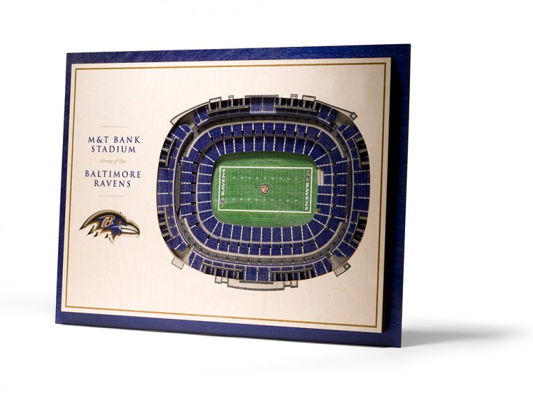 Wooden Five-Layer Stadium Wall Art by StadiumViews - 74