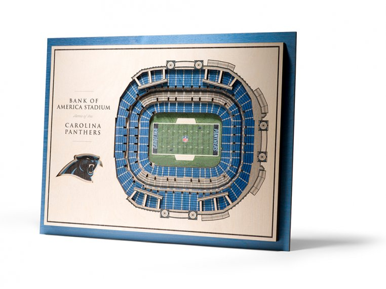 Wooden Five-Layer Stadium Wall Art by StadiumViews - 76