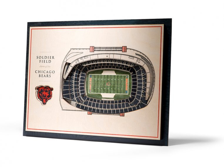 Wooden Five-Layer Stadium Wall Art by StadiumViews - 77