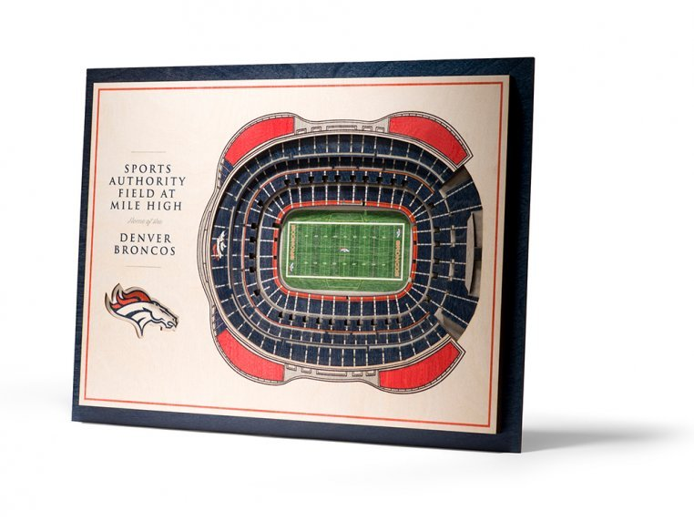 Wooden Five-Layer Stadium Wall Art by StadiumViews - 80