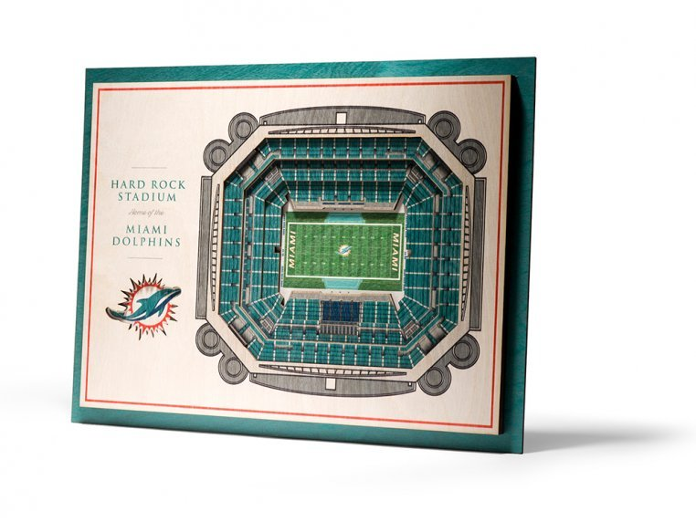 Wooden Five-Layer Stadium Wall Art by StadiumViews - 86