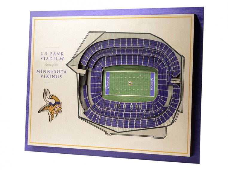 Wooden Five-Layer Stadium Wall Art by StadiumViews - 88