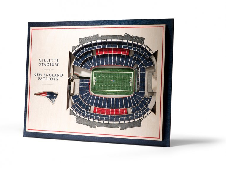 Wooden Five-Layer Stadium Wall Art by StadiumViews - 89