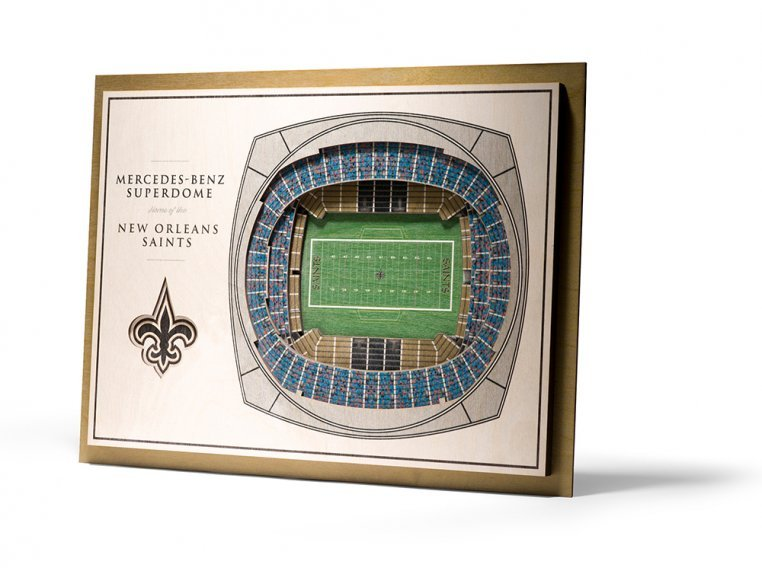 Wooden Five-Layer Stadium Wall Art by StadiumViews - 90