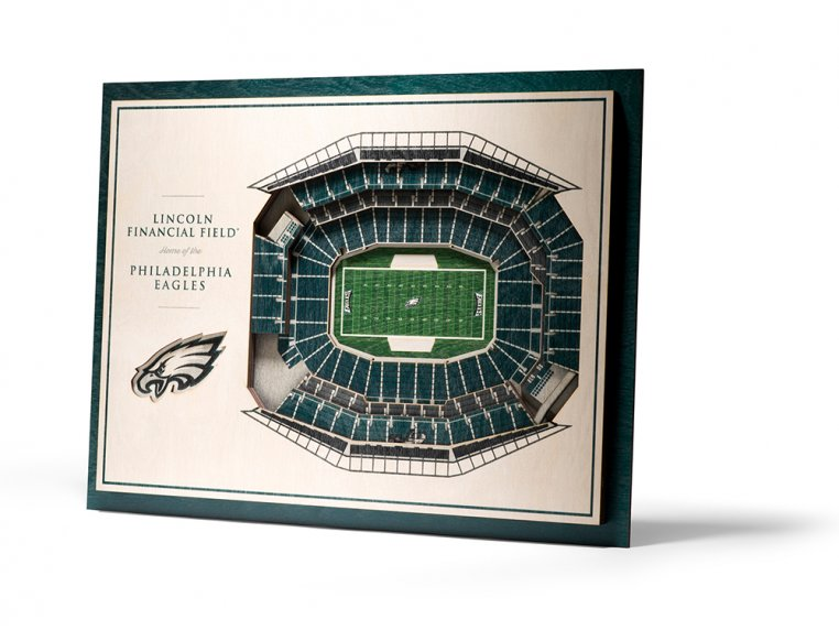 Wooden Five-Layer Stadium Wall Art by StadiumViews - 93