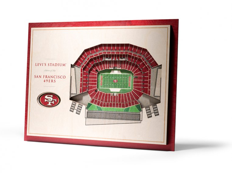 Wooden Five-Layer Stadium Wall Art by StadiumViews - 95