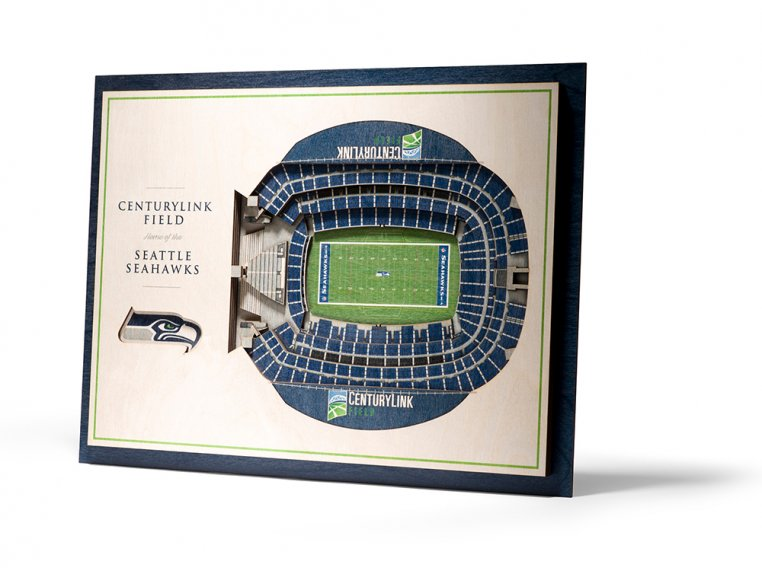 Wooden Five-Layer Stadium Wall Art by StadiumViews - 96